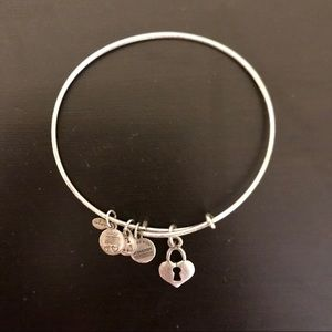 Alex and Ani silver Heart Locket bracelet